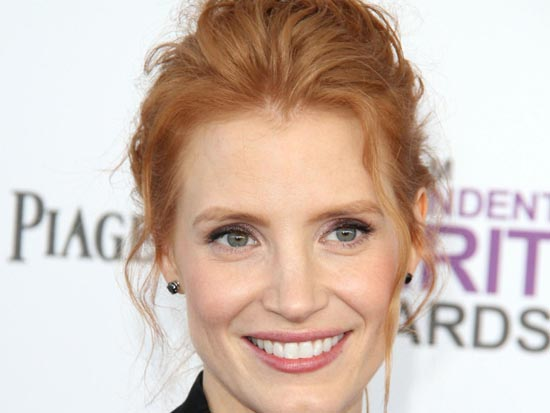 Jessica Chastain at the 2012 Film Independent Spirit Awards